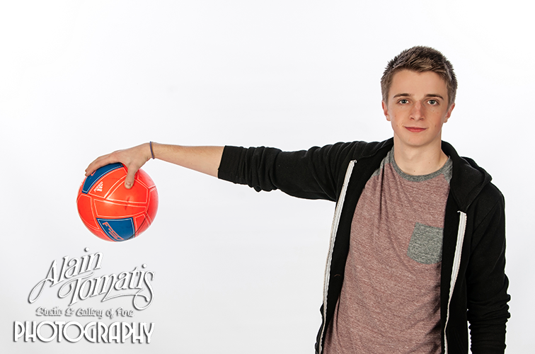 Cody with his soccer ball